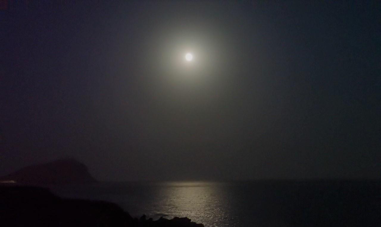 playa la tejita de noche el medano