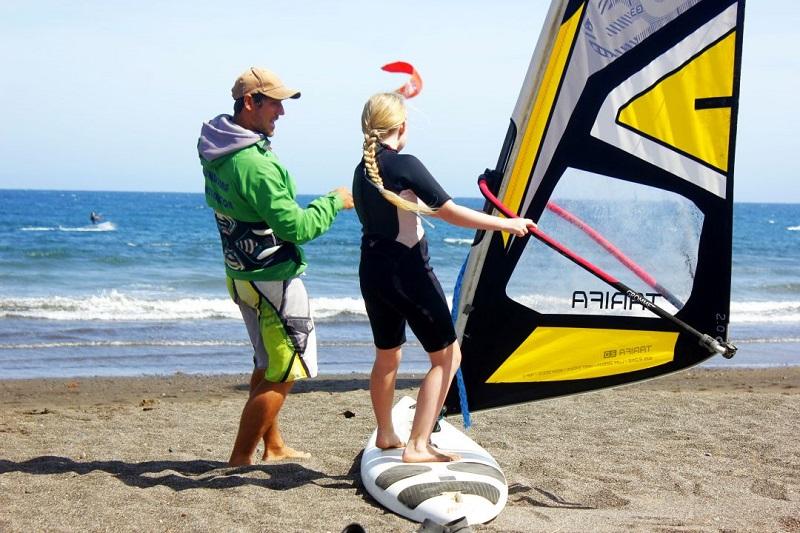 kite surf niños el medano